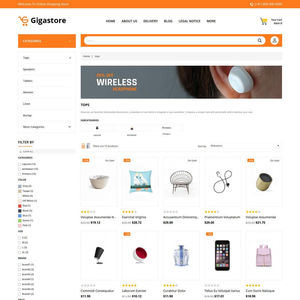 theme - Fashion & Shoes - Gigastore - Mega Store - 3