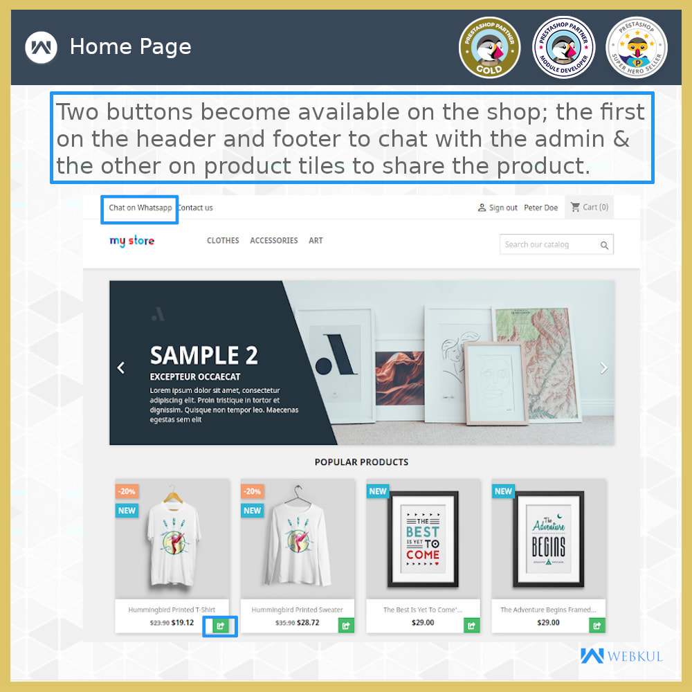 module - Support & Online Chat - Buy Products via WhatsApp - 3