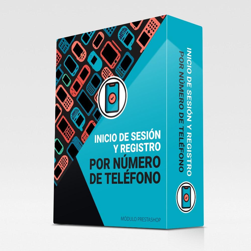 module - Botones de inicio de Sesión/Conexión - Inicio de sesión y registro por número de teléfono - 1