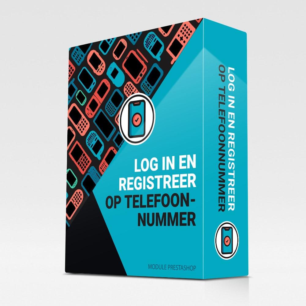 module - Inloggen - Log in en registreer op telefoonnummer - 1