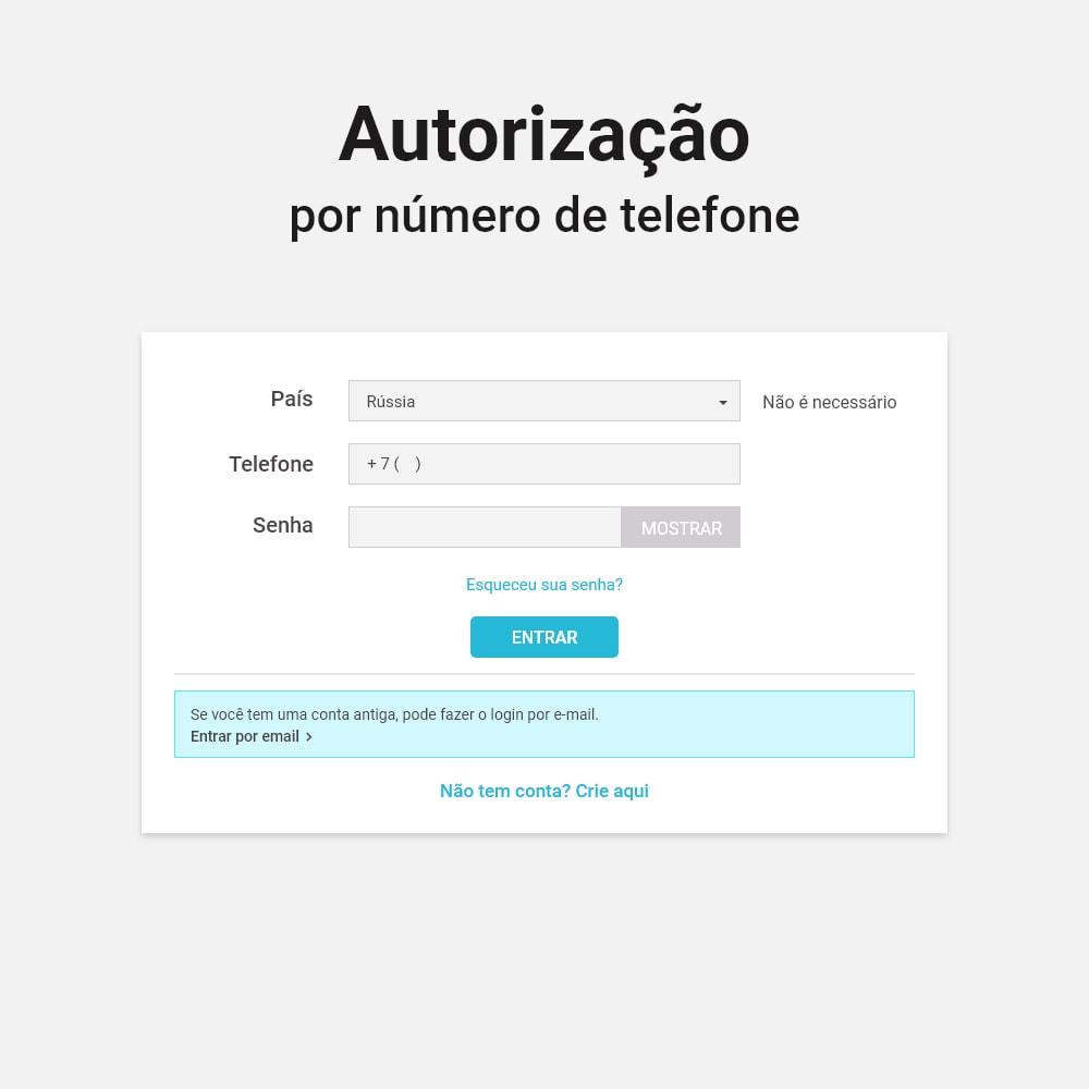 module - Módulos de Botões de Login & Connect - Login e registro por número de telefone - 2