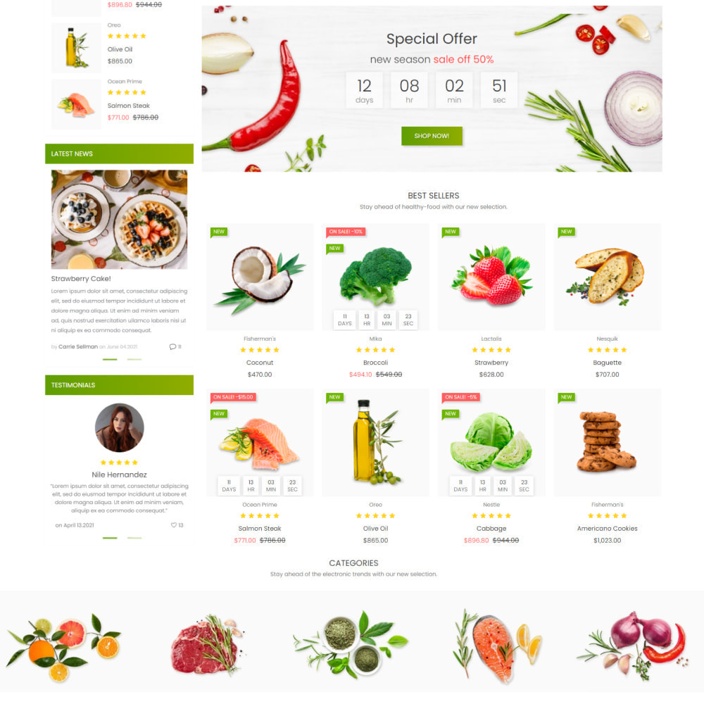 theme - Food & Restaurant - Healthy Food - Supermarket, Restaurant, Organic, Wine - 3