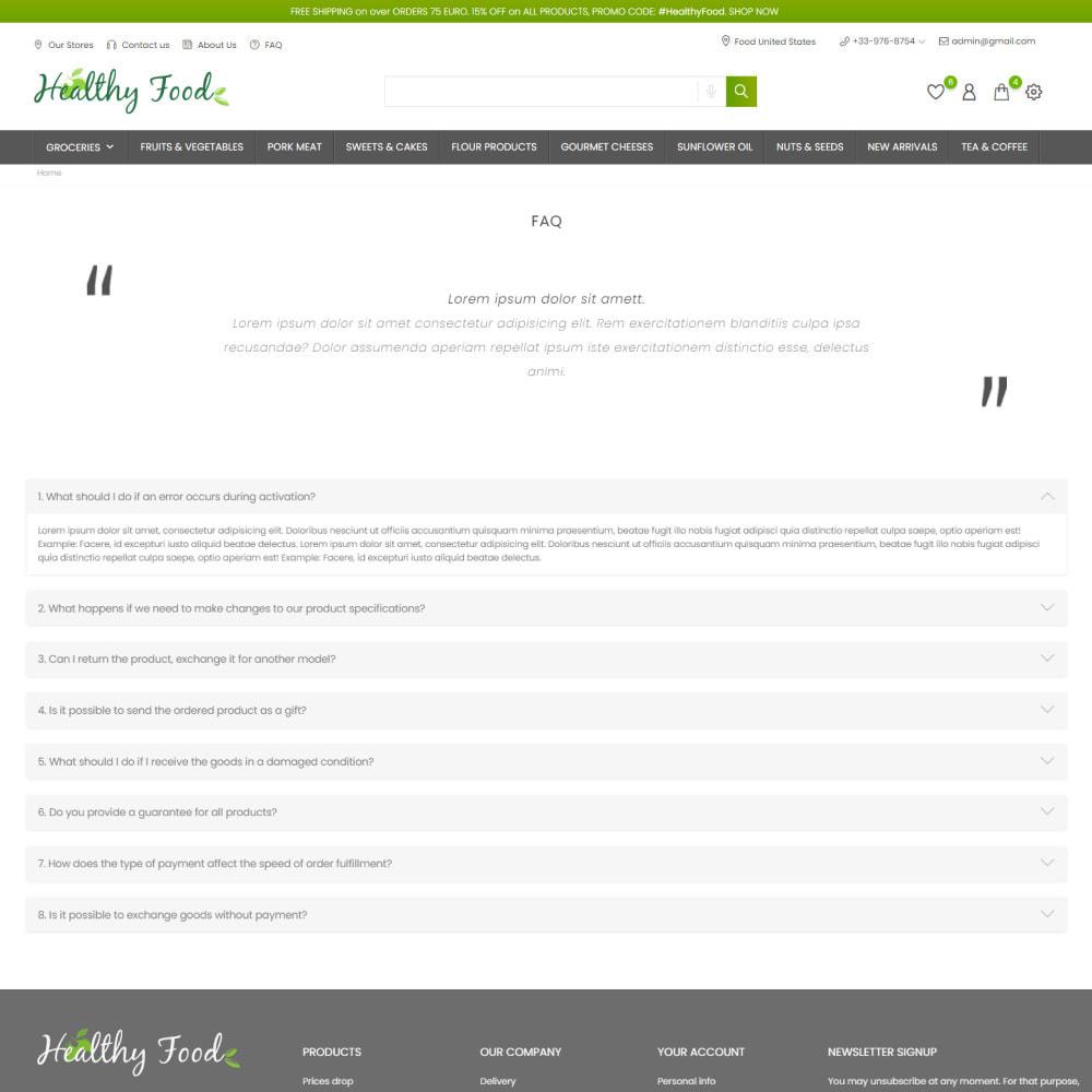 theme - Food & Restaurant - Healthy Food - Supermarket, Restaurant, Organic, Wine - 8