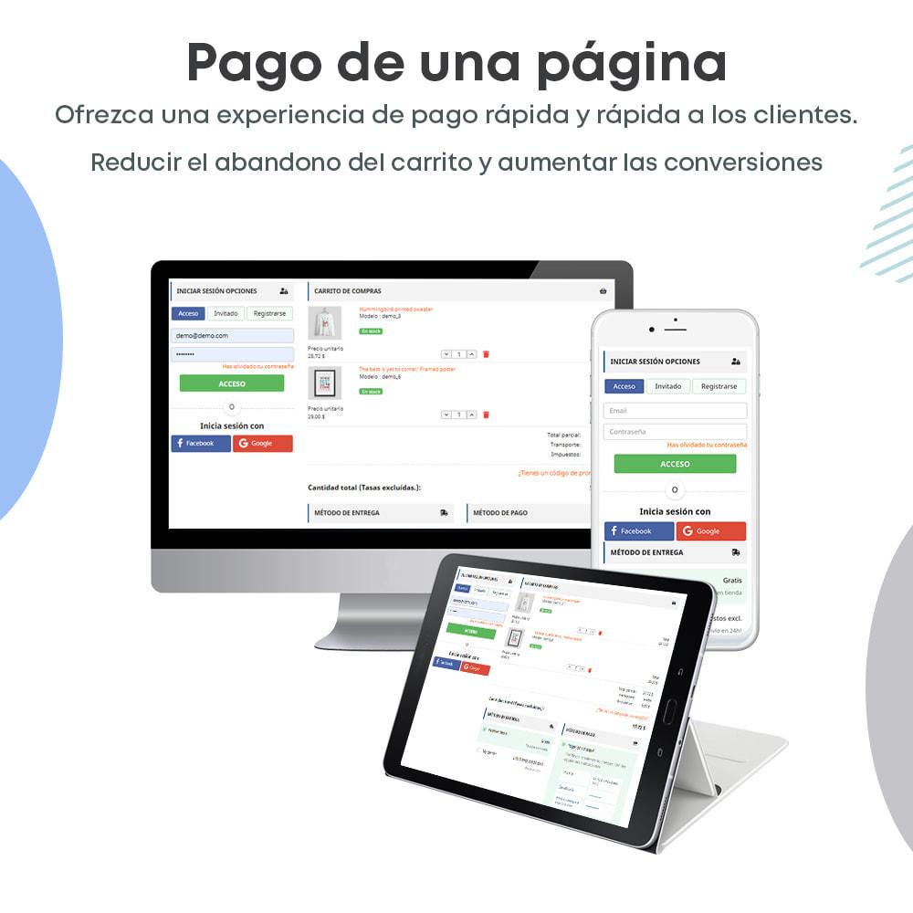 module - Proceso rápido de compra - One Page Checkout, Social Login & Mailchimp - 1