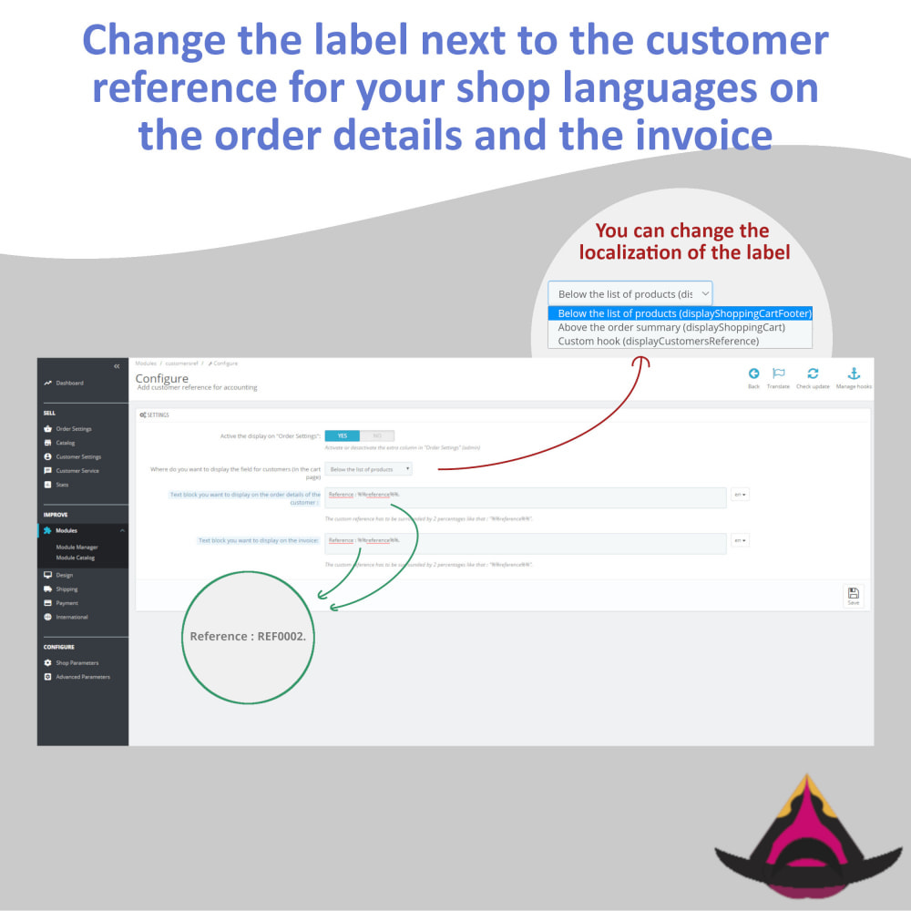 module - Accounting & Invoicing - Personalized customer reference on orders - 4
