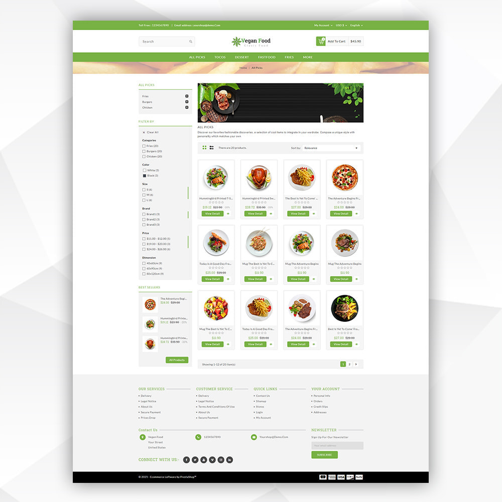 theme - Food & Restaurant - Vegan Food - 3