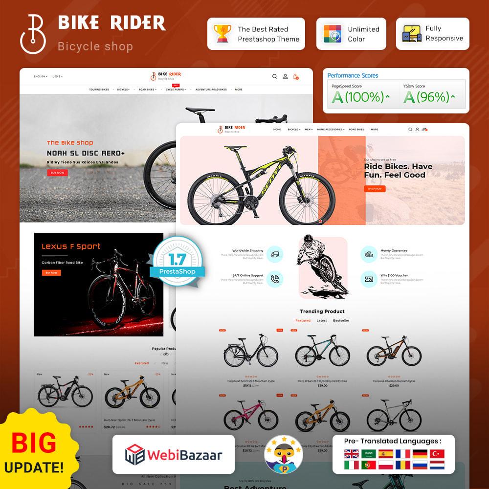 theme - Desporto, Actividades & Viagens - Bike Ryder - Bike Shop & Bicycle Rental Shop - 1