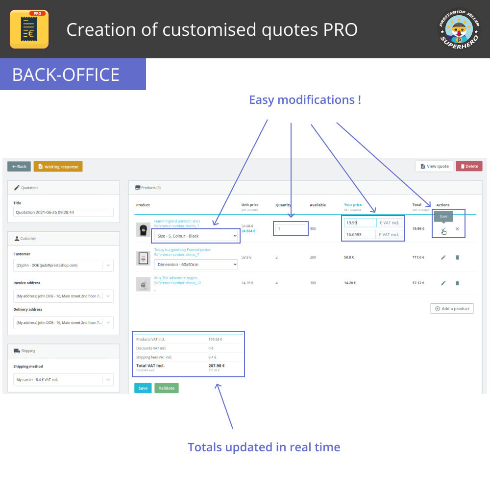 module - Расчет цены - Creation of customised quotes PRO - 5