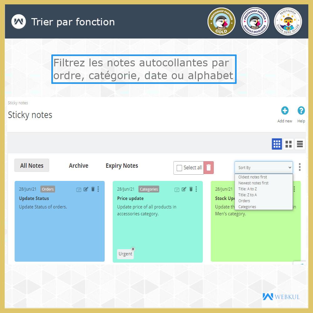 module - E-mails & Notifications - Sticky Notes pour commandes et catégories - 7