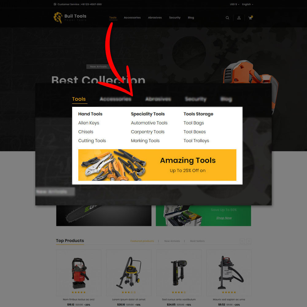 theme - Home & Garden - Buil - Tool Store - 6