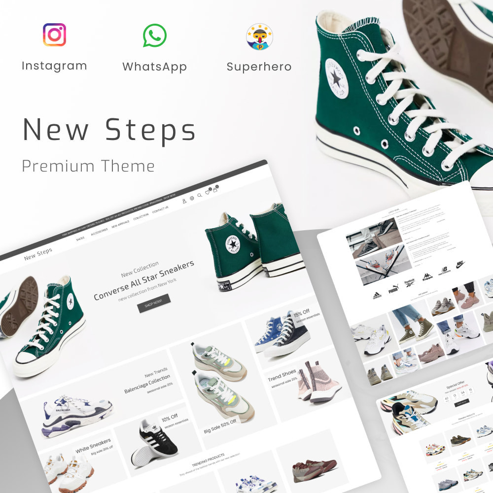 theme - Fashion & Shoes - New Step - Fashion & Shoes, Jewelry, Clothes, Bags - 1