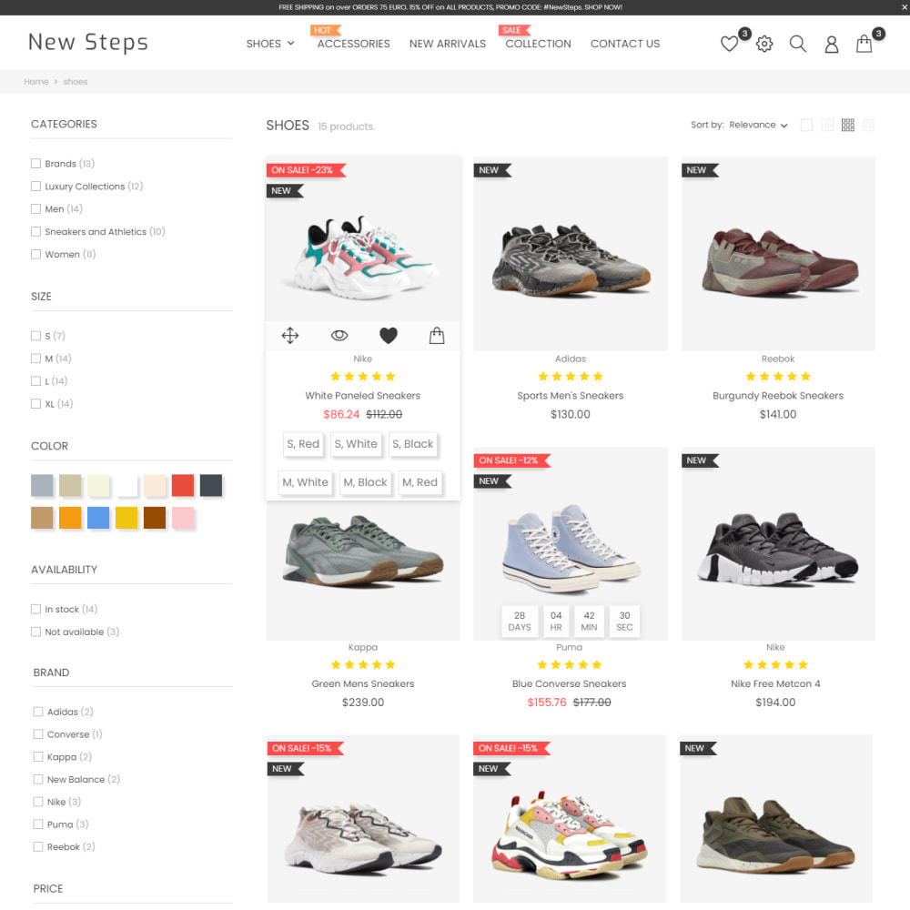 theme - Fashion & Shoes - New Step - Fashion & Shoes, Jewelry, Clothes, Bags - 5
