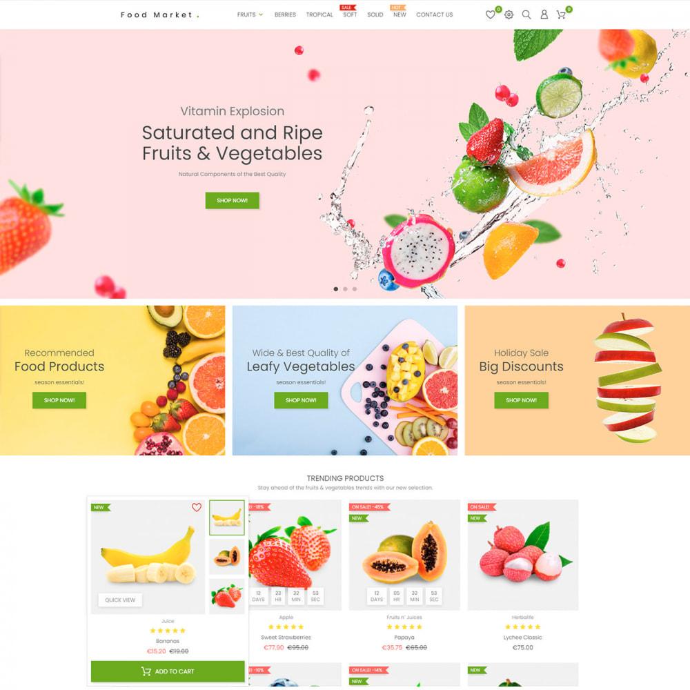 theme - Food & Restaurant - Food & Restaurant - Supermarket Organic, Wine, Coffe - 2