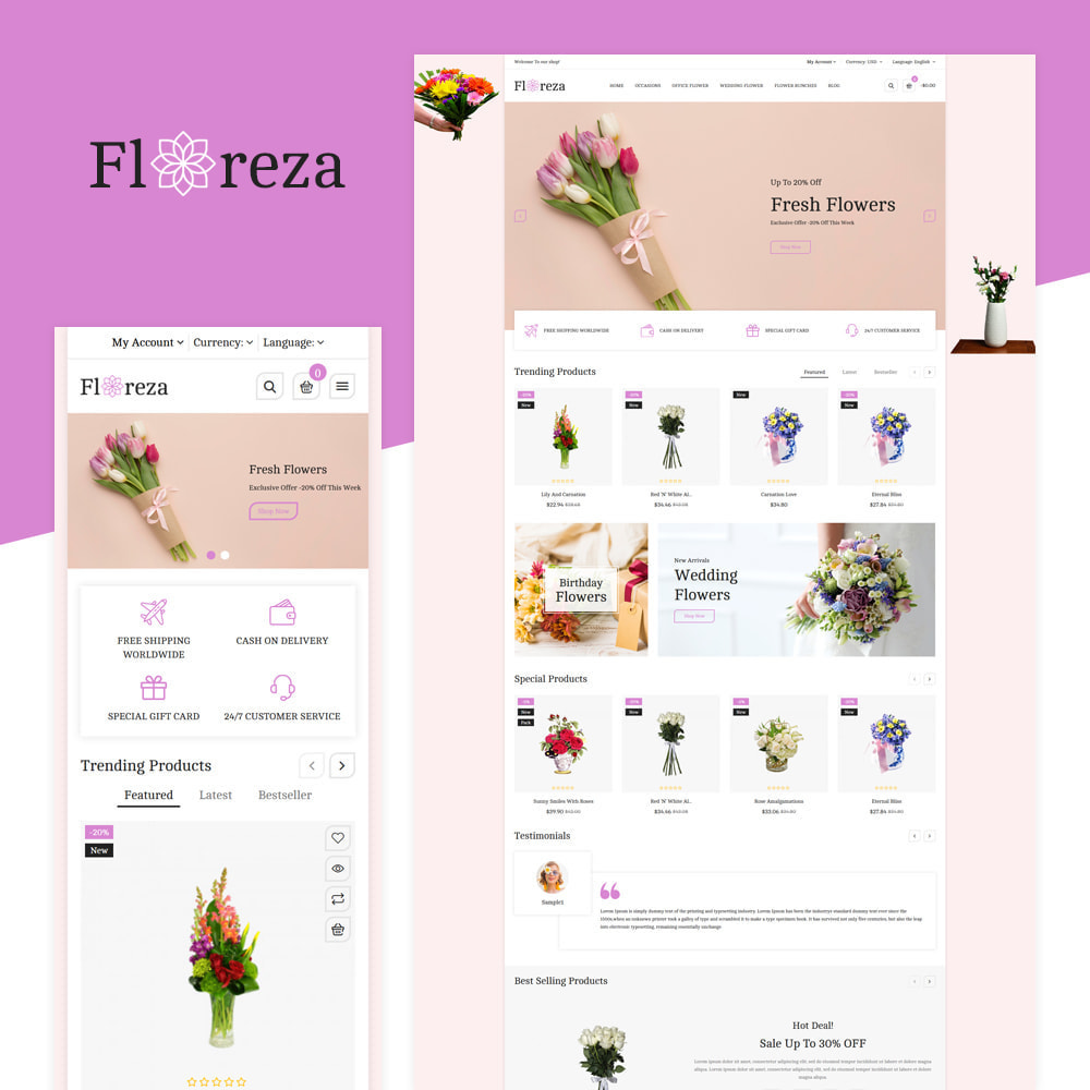 theme - Gifts, Flowers & Celebrations - Floreza Flower Store - 1