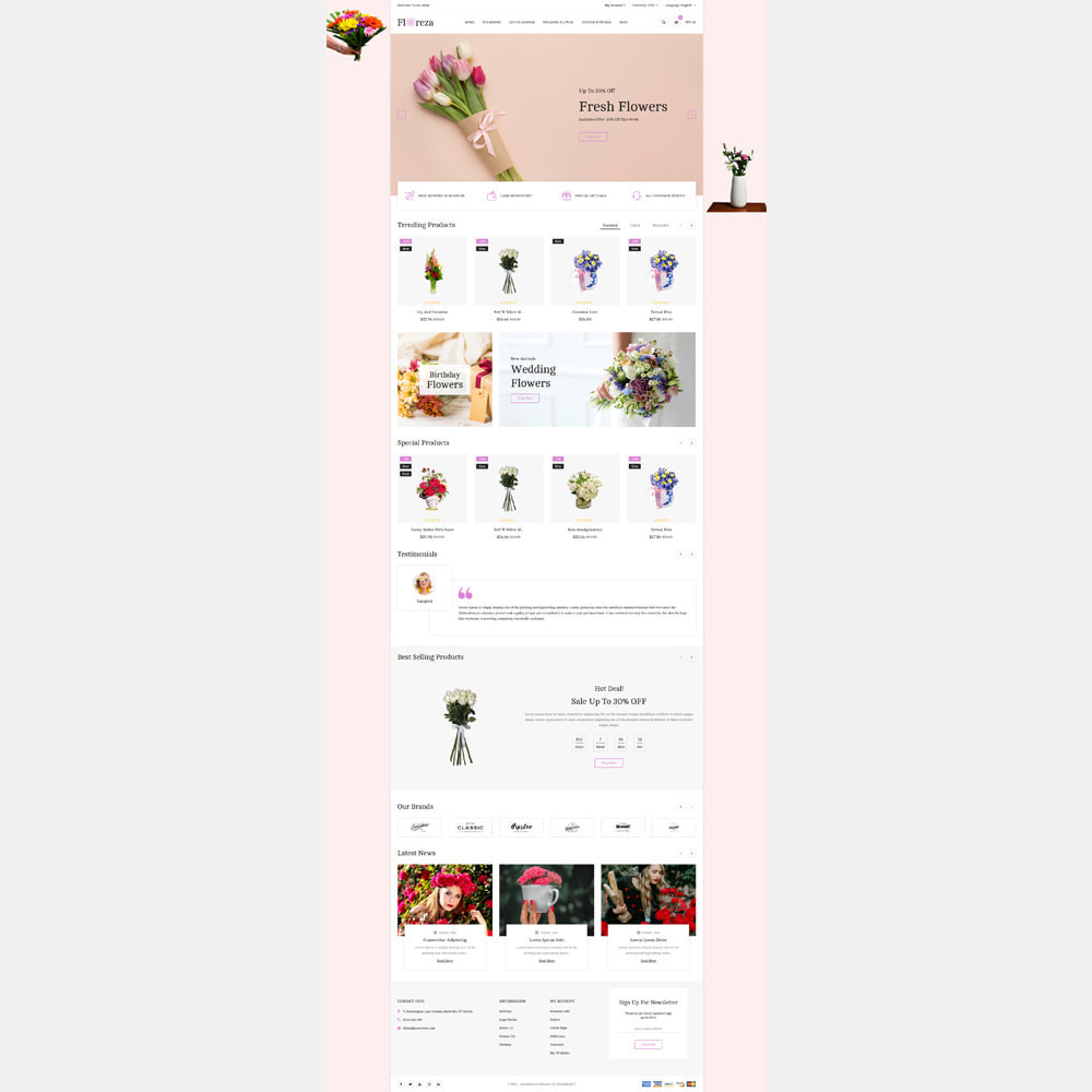 theme - Gifts, Flowers & Celebrations - Floreza Flower Store - 2