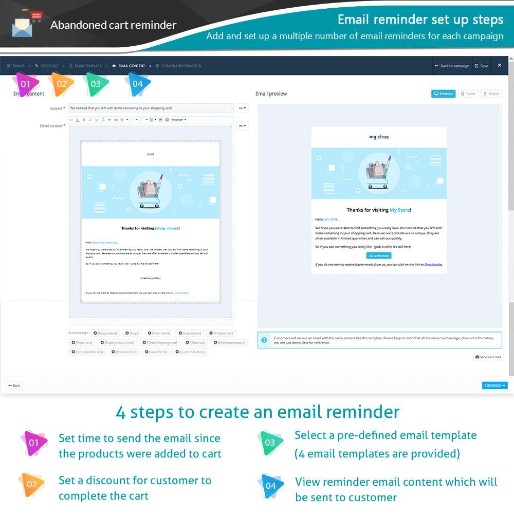 module - Remarketing & Shopping Cart Abandonment - Abandoned Cart Reminder + Auto Email - 9