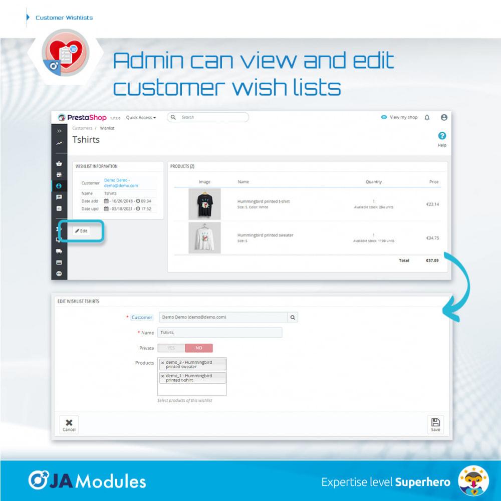 module - Список желаний и Подарочный купон - Customer Wishlists - 9