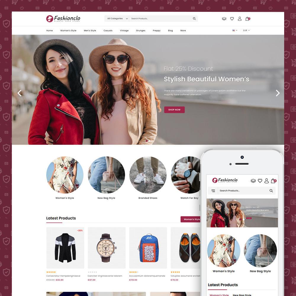 theme - Fashion & Shoes - Fashionclo - Minimal Fashion Store - 1
