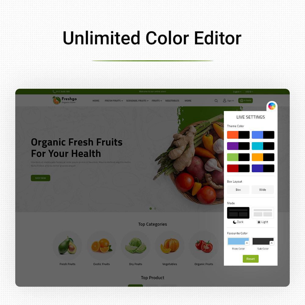 theme - Food & Restaurant - FreshGo - Fresh Vegetables & Supermarket Food Store - 13