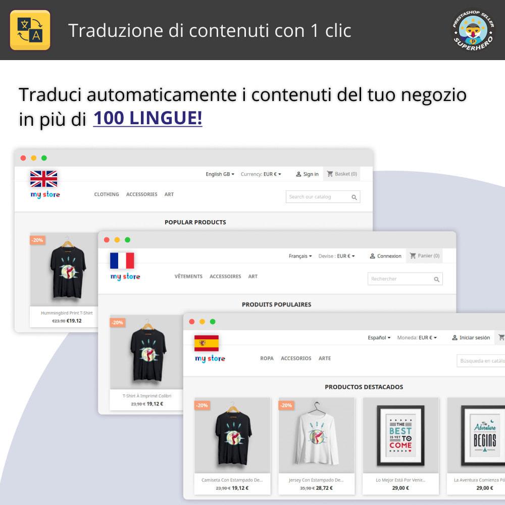 module - Lingue & Traduzioni - Traduzione di contenuti con 1 clic - 1