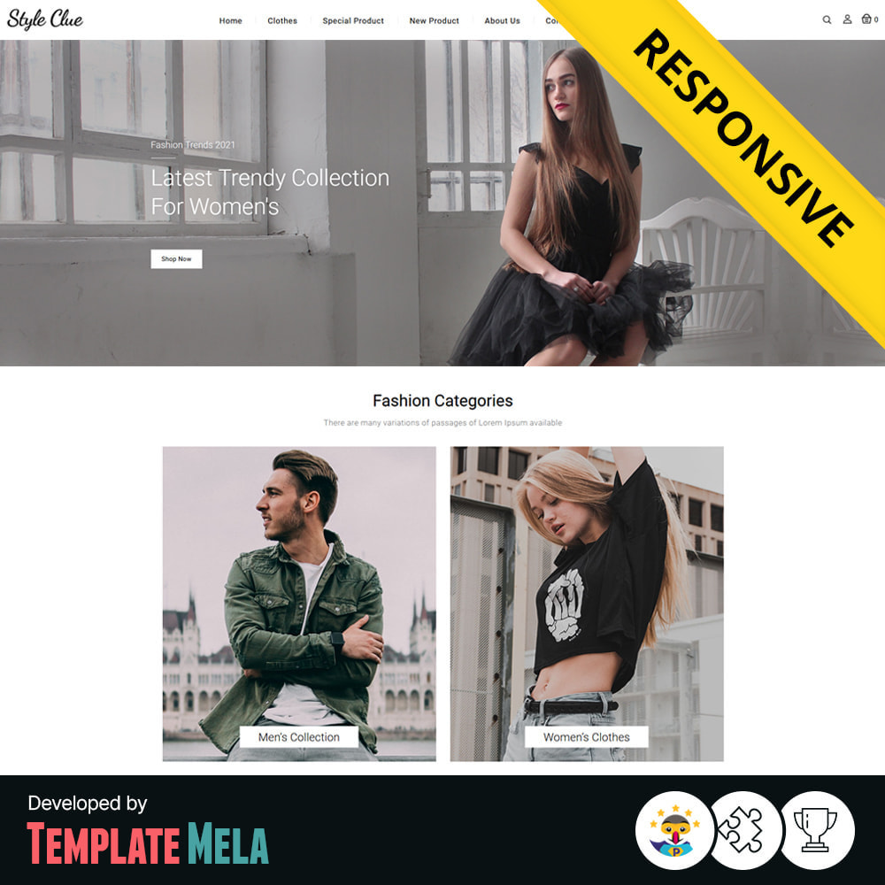 theme - Fashion & Shoes - Style Clue Fashion and Accessories Store - 1