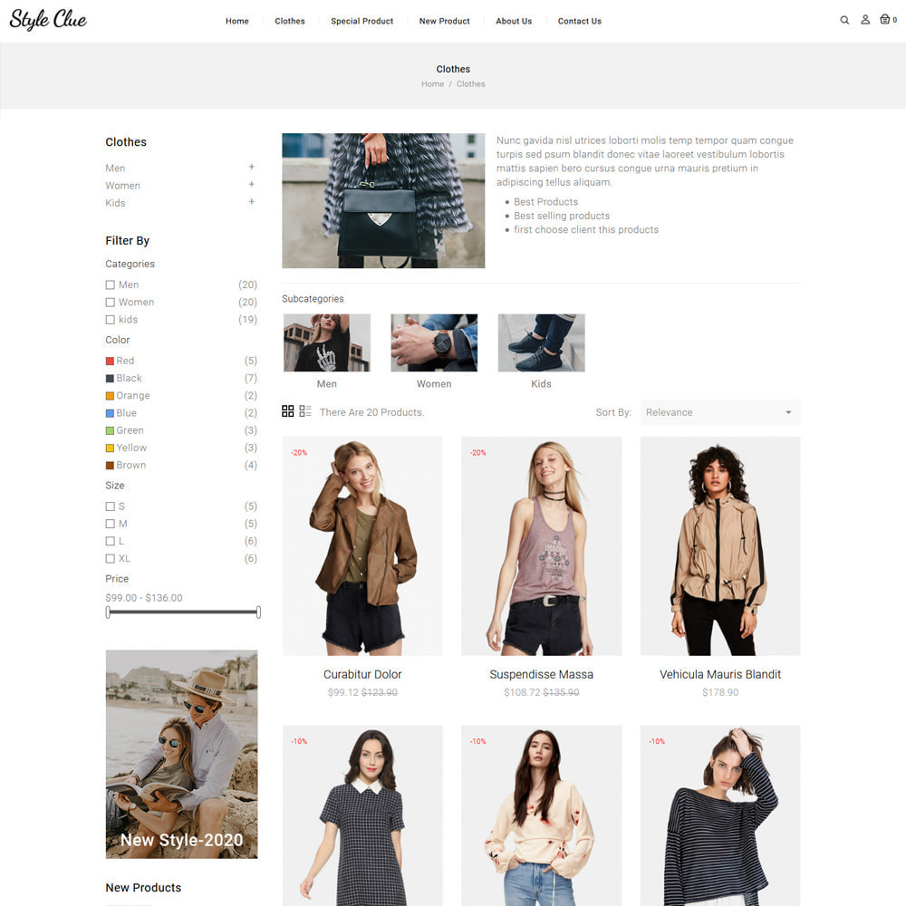 theme - Fashion & Shoes - Style Clue Fashion and Accessories Store - 3
