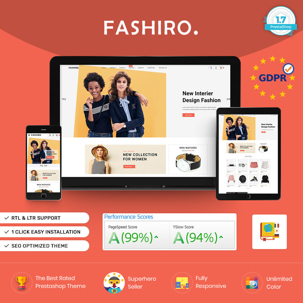 theme - Fashion & Shoes - Fashiro - Mega Fashion Trend Store - 1