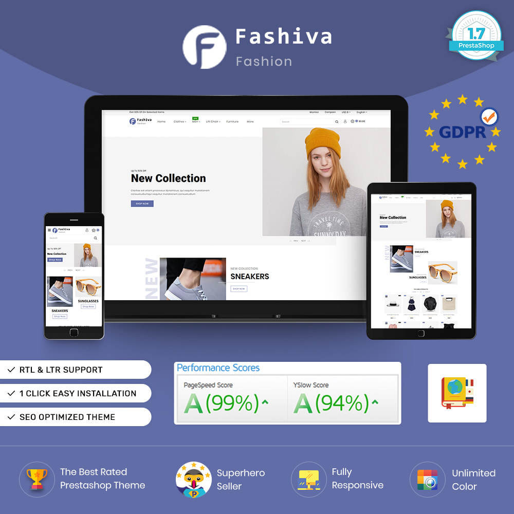 theme - Fashion & Shoes - Fashiva - Modern Fashion Store - 1