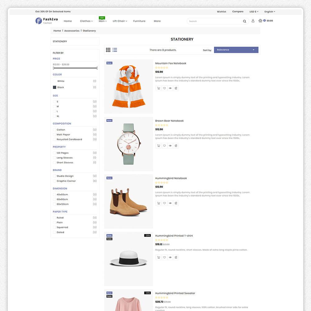 theme - Fashion & Shoes - Fashiva - Modern Fashion Store - 5