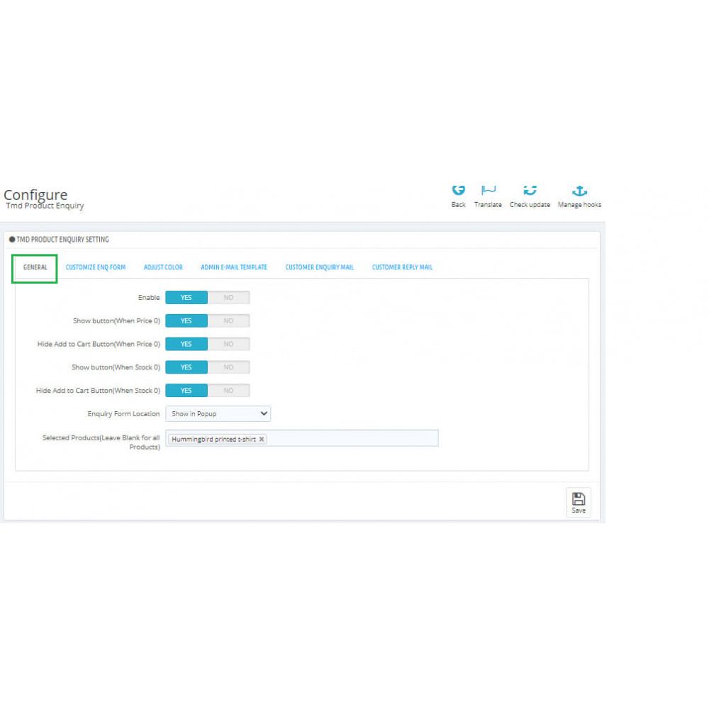 module - Administração - Product Enquiry - 2