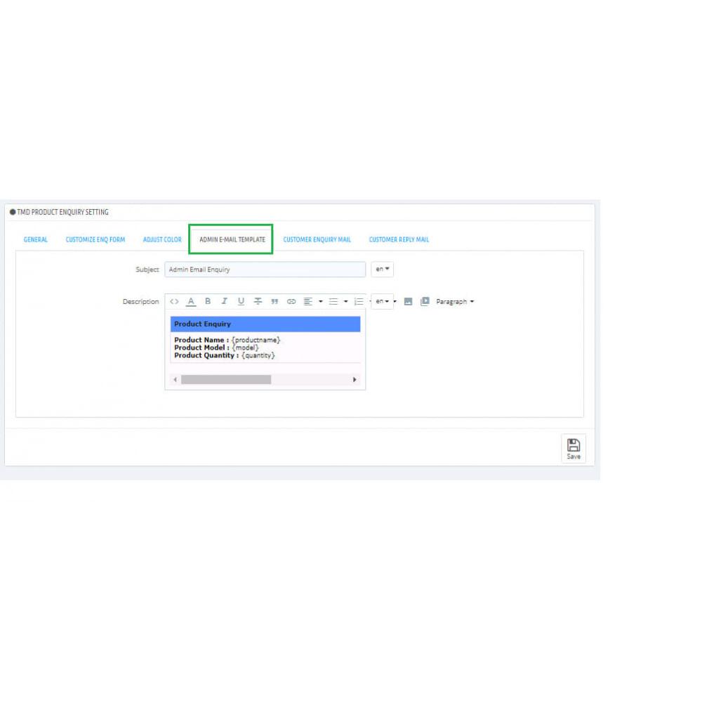 module - Administração - Product Enquiry - 5