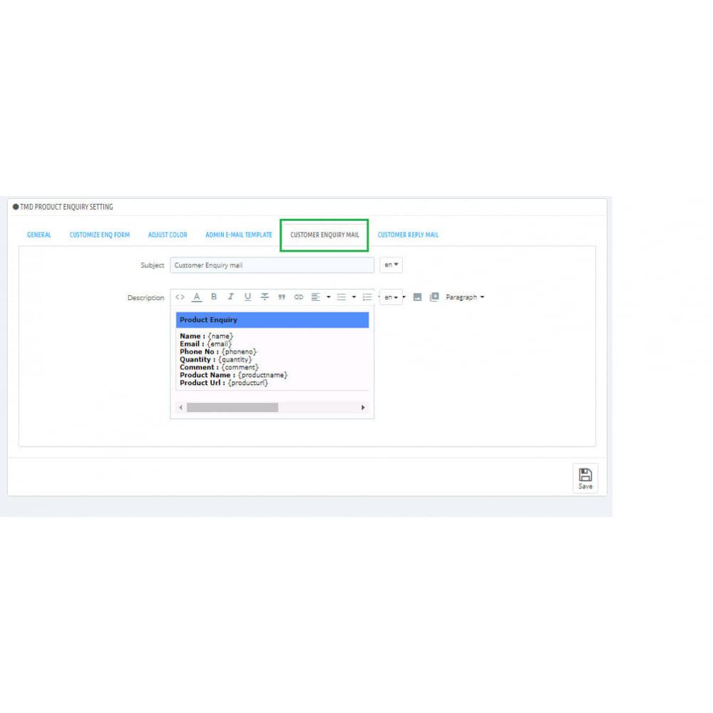 module - Administration - Enquête sur un produit - 5