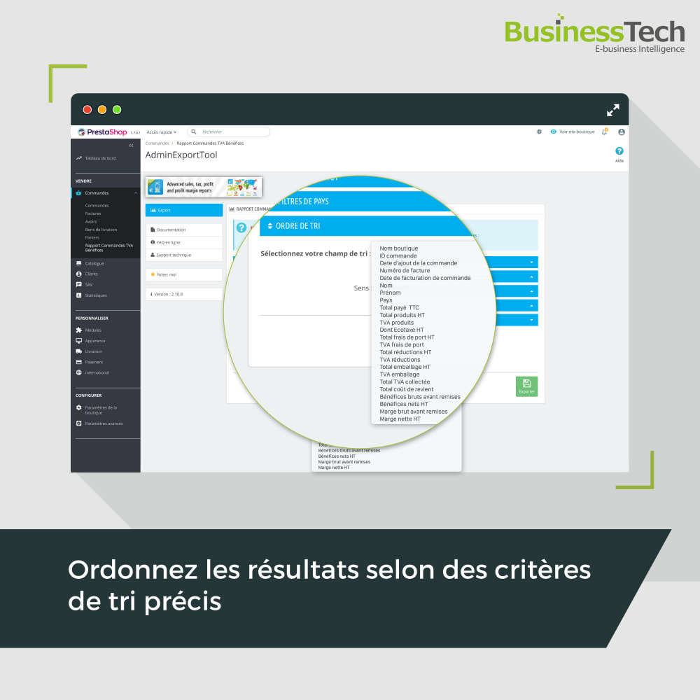 module - Analyses & Statistiques - Sales Reports Pro: Rapports ventes & Exports comptables - 4