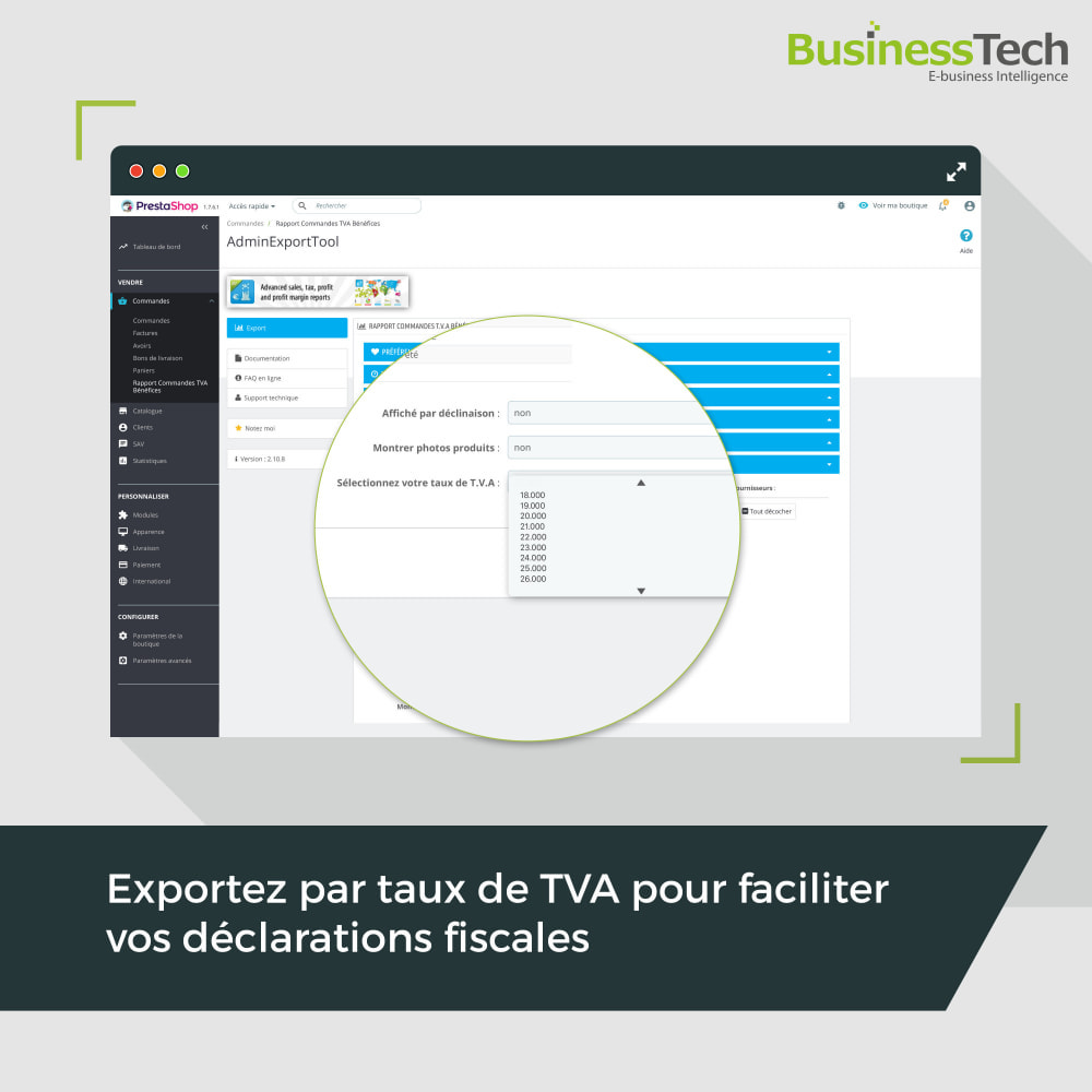 module - Analyses & Statistiques - Sales Reports Pro: Rapports ventes & Exports comptables - 5