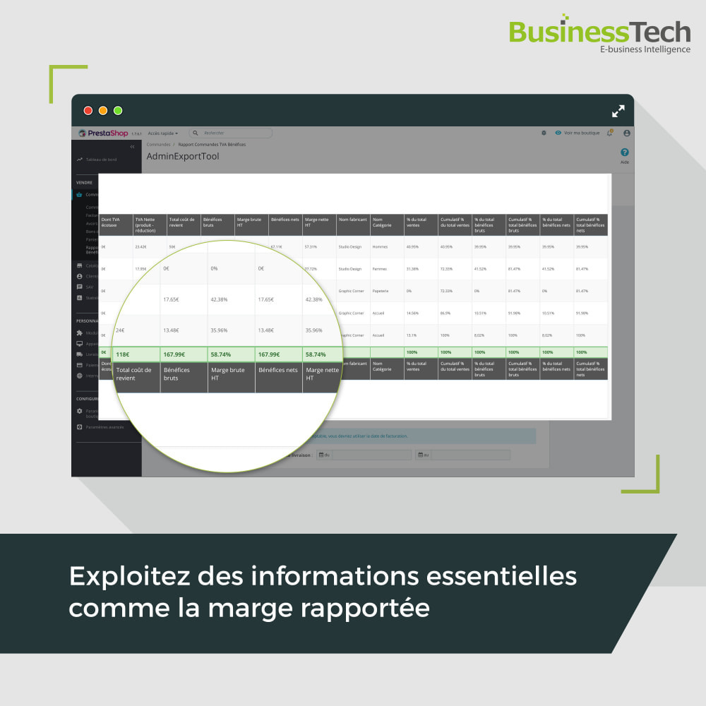 module - Analyses & Statistiques - Sales Reports Pro: Rapports ventes & Exports comptables - 7