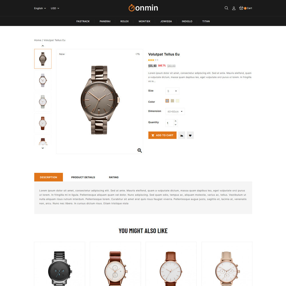 theme - Jewelry & Accessories - Onmin - Watch and Fashion Store - 4
