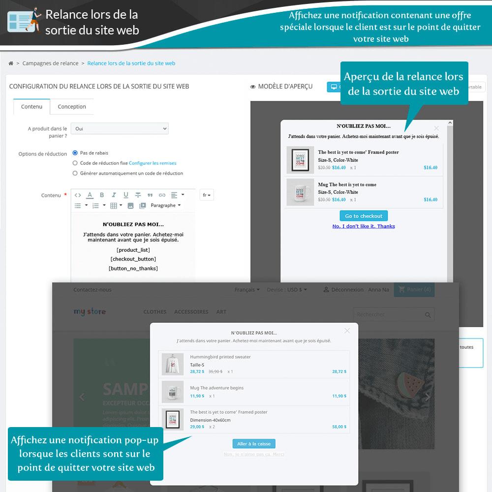 module - Remarketing & Paniers Abandonnés - Relance des paniers abandonnés + E-mails automatiques - 17