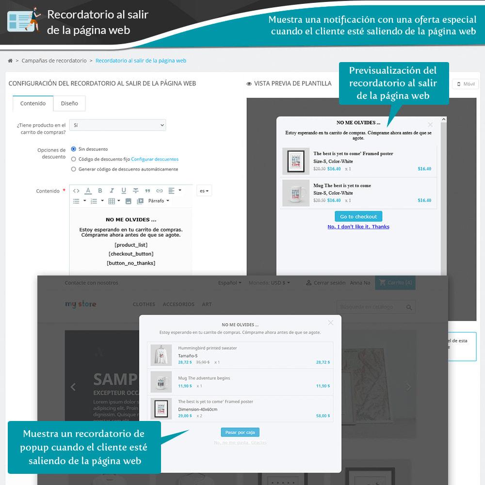 module - Remarketing y Carritos abandonados - Recordatorio cestas abandonadas + Email automático - 17