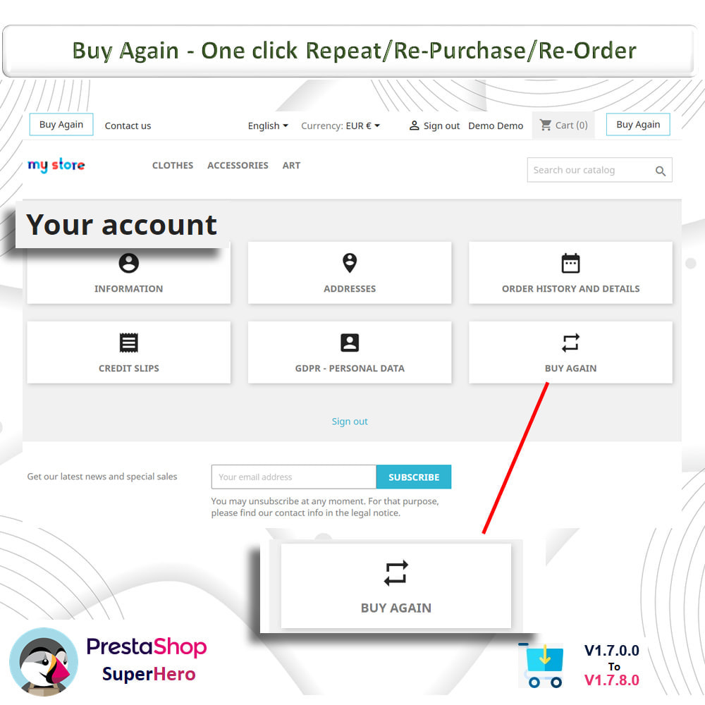 module - Bestelproces - Buy Again- One click Repeat/Re-Purchase/Re-Order - 2