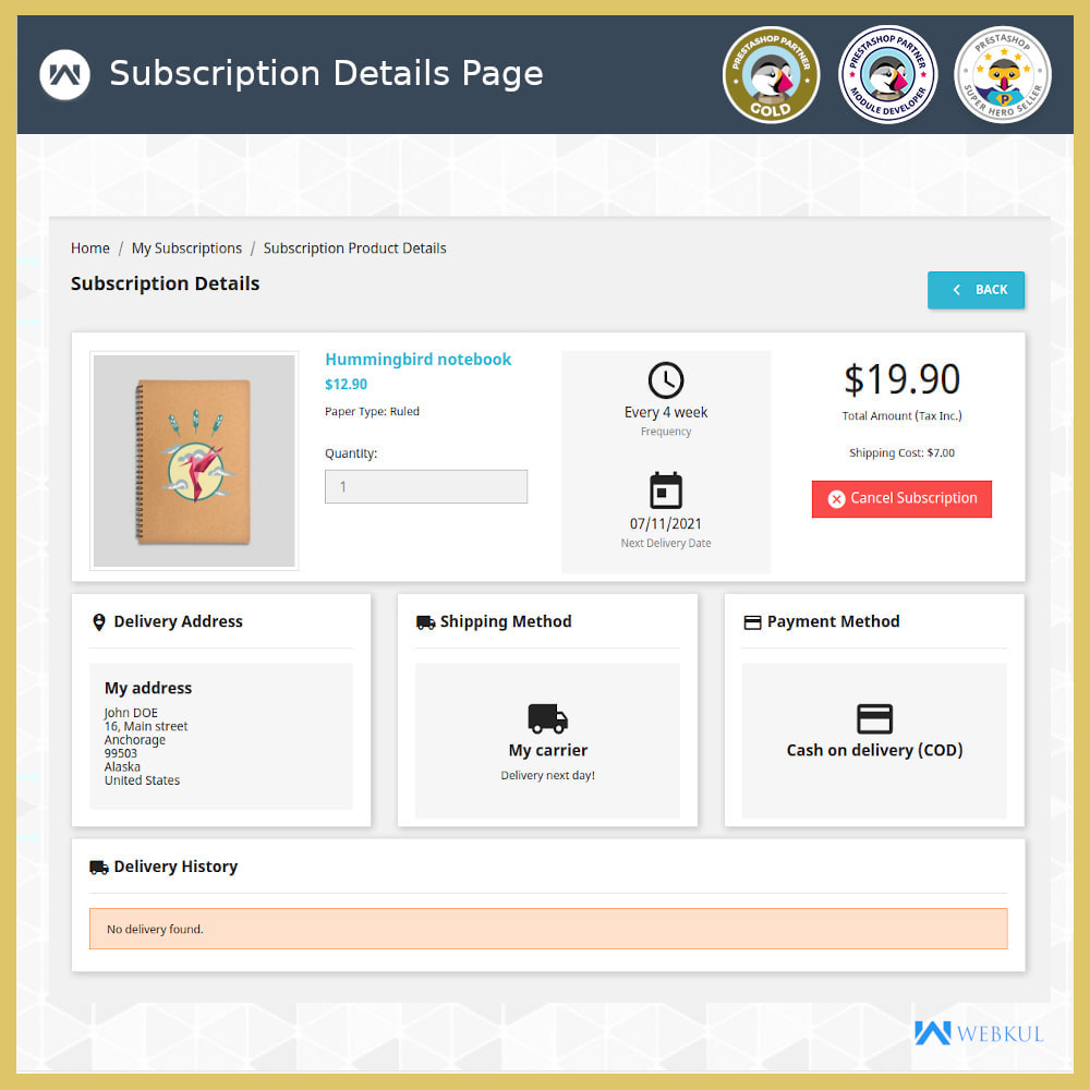 module - Recurring payment (subscription) - Subscription Products | Recurring Payments - 11