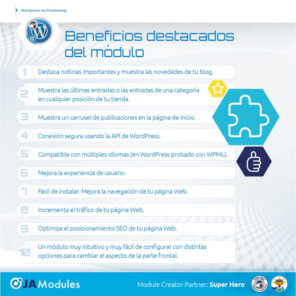 module - Blog, Foro y Noticias - WordPress Integración - 2