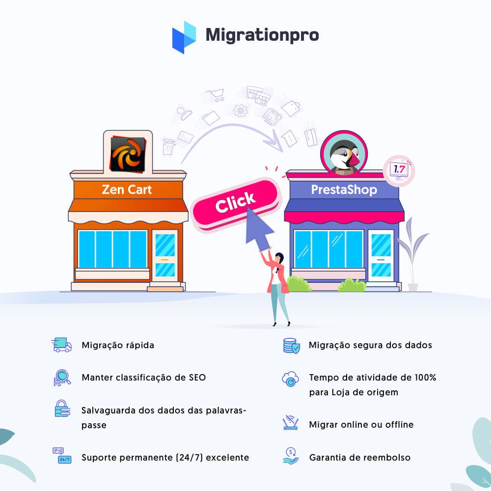 module - Migração de Dados & Registro - Ferramenta de Migração de Zen Cart para PrestaShop - 1