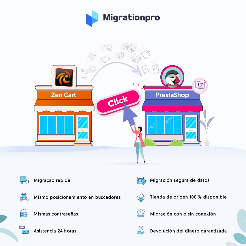 module - Migración y Copias de seguridad - Herramienta de migración de Zen Cart a PrestaShop - 1
