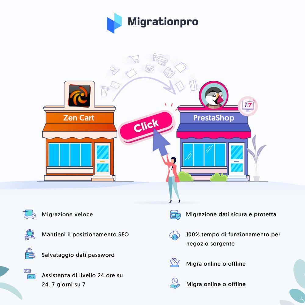 module - Data Migration & Backup - Strumento di migrazione da Zen Cart a PrestaShop - 1