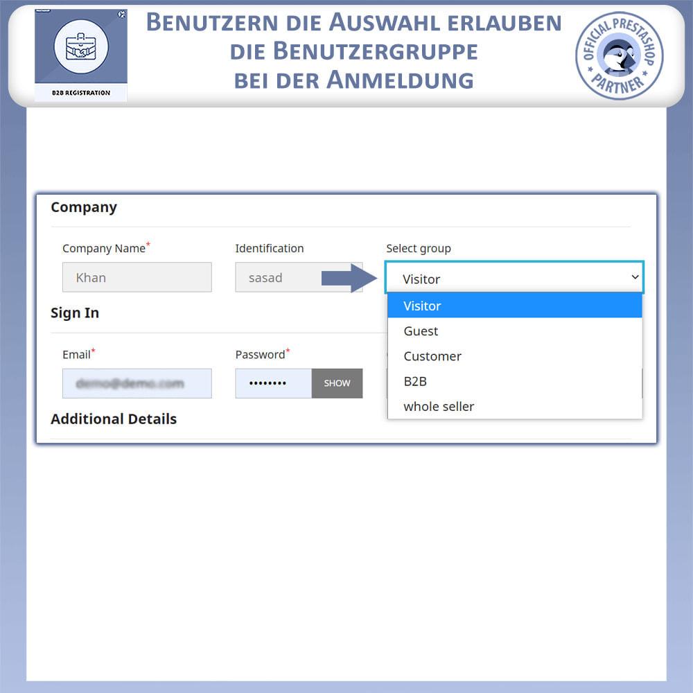 module - Anmeldung und Bestellvorgang - B2B-Registrierung - 12