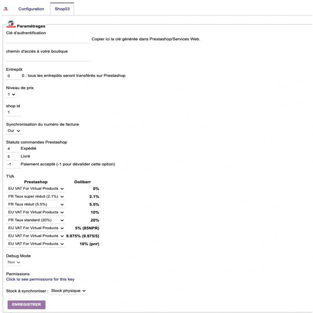 module - Connexion à un logiciel tiers (CRM, ERP...) - Synchronisation Dolibarr ERP/CRM vers Prestashop - 3