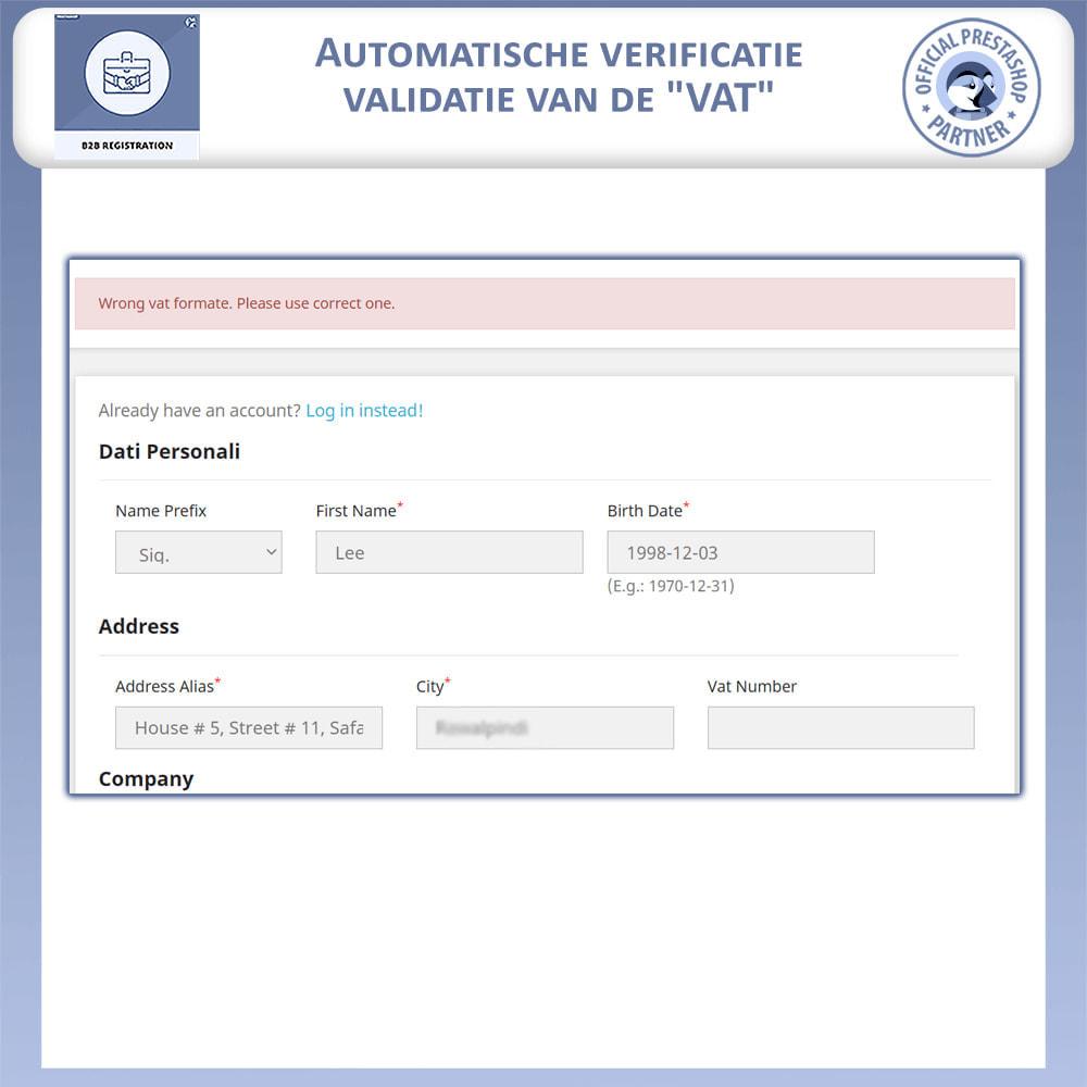 module - Registratie en Proces van bestellingen - B2B Registratie - 6