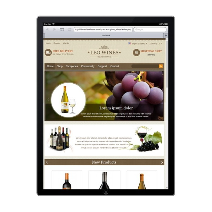 theme - Bebidas y Tabaco - Leo Wines - Alcohol, Restaurant & Drinks Store - 9