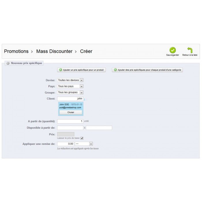module - Promotions & Gifts - Mass Discounter: Manage your promotions massively - 13