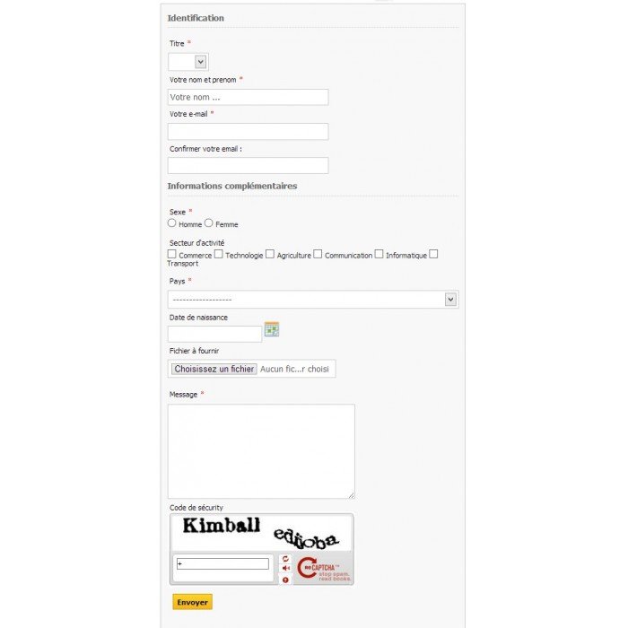 module - Administrative tools - Customizable ContactForm - 4